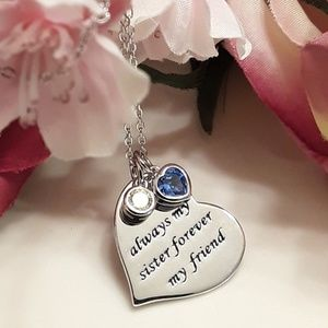 Jewelry - NEW S925 Sister Friend Heart Necklace